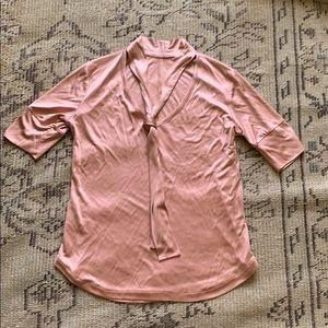 Daniela Corte pink neck tie top